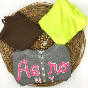 3 Pieces Aeropostale, Tee Long Sleeves, Cami XS